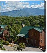 Smoky Mountain Cabins Acrylic Print