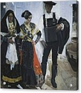 Sorolla, Joaqu�n 1863-1923. People Acrylic Print