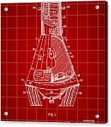 Space Capsule Patent 1959 - Red Acrylic Print