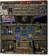Space Shuttle Cockpit Acrylic Print