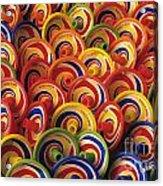 Spinning Tops Acrylic Print