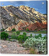Spring Storm Over Split Mountain Dinosaur National Monument Acrylic Print