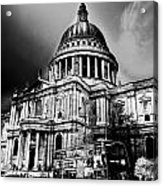 St Pauls Cathedral London Art Acrylic Print by David Pyatt