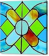 Stained Glass Window Acrylic Print by Janette Boyd