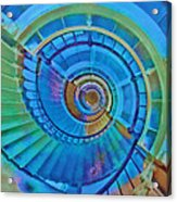 Stairway To Lighthouse Heaven Acrylic Print