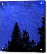 Star Trails In Night Sky Acrylic Print by Lane Erickson