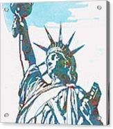 Statue Liberty - Pop Stylised Art Poster Acrylic Print