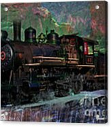 Steam Locomotive Acrylic Print by Gunter Nezhoda