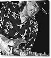 Guitarist Stevie Ray Vaughan Acrylic Print
