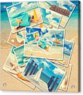 Summer Postcards Acrylic Print by Amanda Elwell