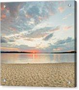 Sunset On South Bay, Lake Superior Acrylic Print