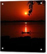 sunset over Hoogly river Acrylic Print