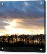 Sunset Over Trees In An English Field Acrylic Print