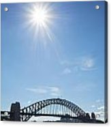 Sydney Harbour Bridge In Australia  Acrylic Print