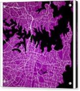 Sydney Street Map - Sydney Australia Road Map Art On Colored Bac Acrylic Print