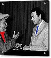 Ted Degrazia Dick Mayers Kvoa Tv Studio Polaroid By News Director Garry Greenberg January 1966 Acrylic Print