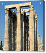 Temple Of Olympian Zeus In Athens Acrylic Print