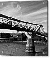 The Millenium Bridge Acrylic Print