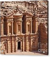 The Monastery At Petra In Jordan Acrylic Print