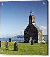 The Ruined Church Of St Brynach At Cwm Yr Eglwys Acrylic Print