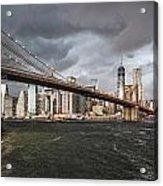 The Storm Over Manhattan Acrylic Print