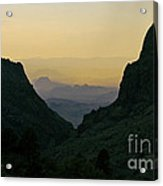 The Window At Sunset In Chisos Mountains Of Big Bend National Park Texas Acrylic Print