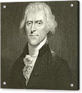 Thomas Jefferson Acrylic Print by English School