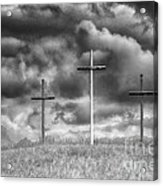 Three Crosses On Hill Acrylic Print