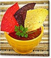 Tortilla Chips And Salsa Acrylic Print by Elena Elisseeva