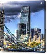 Tower Bridge And The City Acrylic Print