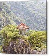 Traditional Pavillion Atop Cliff Acrylic Print
