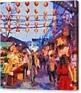 Traditional Shopping Area Acrylic Print