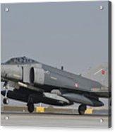 Turkish Air Force F-4 Phantom At Konya Acrylic Print