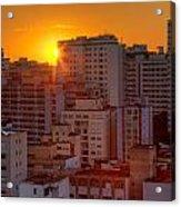 Twilight In Sao Paulo Acrylic Print