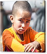 Uighur Child At Kashgar Market Xinjiang China Acrylic Print