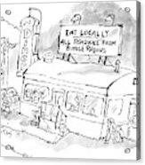 New Yorker November 24th, 2008 Acrylic Print