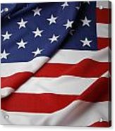 Usa Flag Acrylic Print by Les Cunliffe