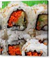Vegetable Sushi Acrylic Print