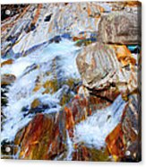 Vibrant Colored Rocks Verzasca Valley Switzerland Acrylic Print