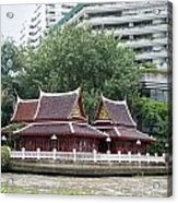 View From Chao Phraya River In Bangkok Acrylic Print
