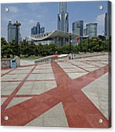 View From Peoples Park, Shanghai Acrylic Print