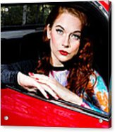 Vintage Fashion Shoot Acrylic Print