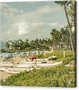 Wailea Beach Maui Hawaii Acrylic Print by Sharon Mau