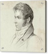 Washington Irving  American Writer Acrylic Print