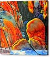 Watson Lake Acrylic Print by Robert Hooper