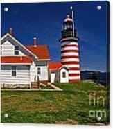 West Quoddy Lighthouse Acrylic Print