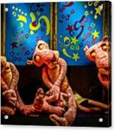 3 Wet Pink Panthers Acrylic Print