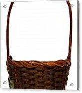 Wicker Basket Number Ten Acrylic Print