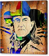 Willie Nelson Collection Acrylic Print