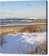 Winter At Popham Beach State Park Maine Acrylic Print